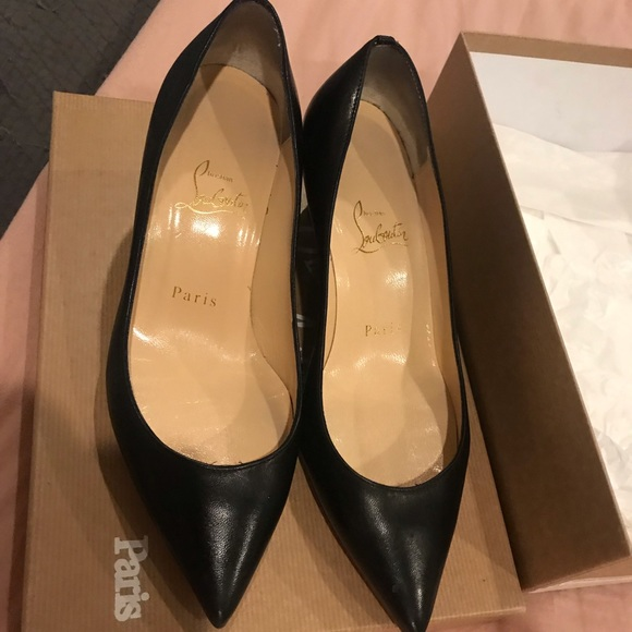 sports shoes 51fff 0381a Christian Louboutin 55mm / 2in Black Nappa Shiny